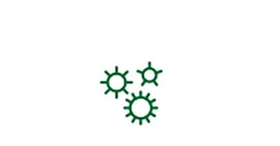Ícone de microrganismo de doença indicando fator de risco para catarata