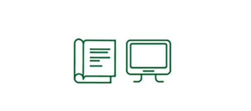 Ícones de livro e tela de computador indicando uma maior segurança em situações de pouca visibilidade