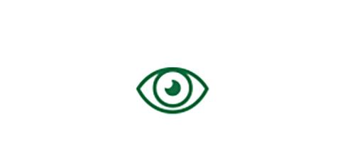 Ícone de olho indicando a visão de longe de alta qualidade