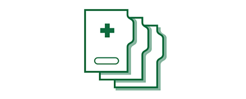 Ícone de prontuário médico